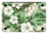 Macbook Skin Decal Sticker - White Flowers - CaseCarnival- Macbook Decal Sticker