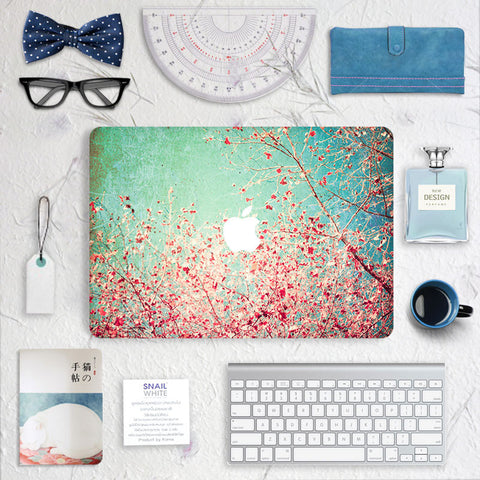 Macbook Skin Decal Sticker -  Cherry blossoms - CaseCarnival