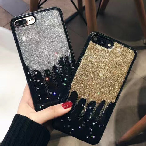 Glitter Stars Rain iPhone 6/6s/7 and Plus Case - CaseCarnival- Design Cases