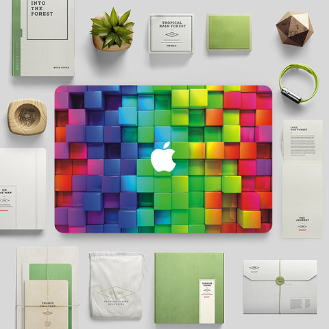 Macbook Skin Decal Sticker - 3D Cubes Illustration - CaseCarnival- Macbook Decal Sticker