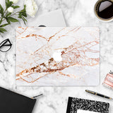 Macbook Skin Marble Decal Sticker - Rose Gold Pink Marble - CaseCarnival