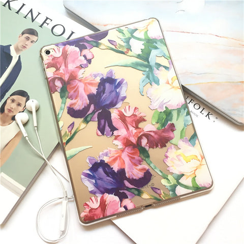 Floral Clear iPad Case Cover for iPad Air / Mini - CaseCarnival