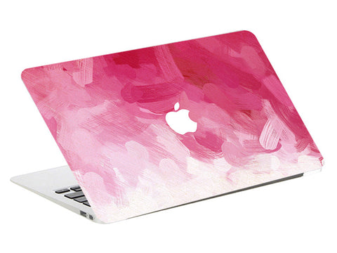 Macbook Skin Decal Sticker - Pink White Watercolor - CaseCarnival- Macbook Decal Sticker