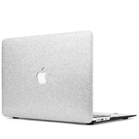 Silver Glitter Macbook Case Cover - CaseCarnival- Macbook Cases