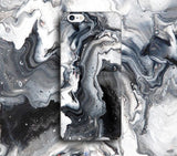 Black Metallic Marble Print Phone Case for Apple iPhone ,Samsung Galaxy, LG, HTC, SONY - CaseCarnival