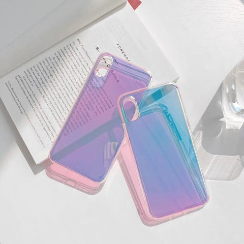 Glossy Aurora Transparent Mirror Slim iPhone Case - CaseCarnival