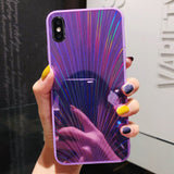 Symmetric Rave Glitter Holographic Prism Laser iPhone Case for iPhone X XR XS Max 7 8 Plus 6 6S Plus Cases Shockproof bumper - CaseCarnival- Design Cases