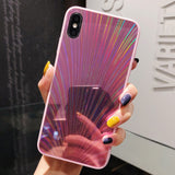 Symmetric Rave Glitter Holographic Prism Laser iPhone Case for iPhone X XR XS Max 7 8 Plus 6 6S Plus Cases Shockproof bumper - CaseCarnival