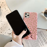 Shiny Mirror Pink Leopard Spots Pattern iPhone Cases - CaseCarnival- Design Cases