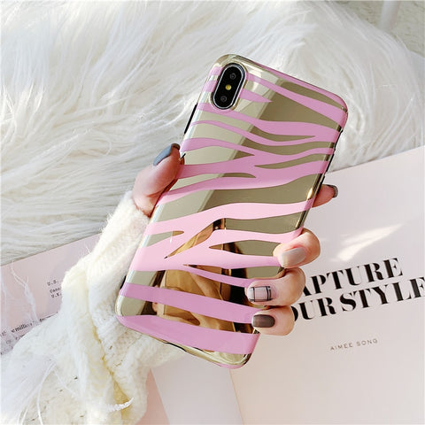 Mirror Zebra Stripes iPhone Mirror Soft Case - CaseCarnival