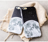 Dark Galaxy Clear Phone Cases fit Apple iPhone 5/5s/6/6s Plus - CaseCarnival- Design Cases