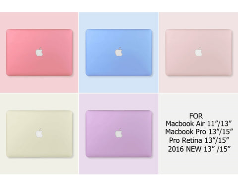 Macbook Case - Pastel Case (Pink / Rose / Blue / Purple) - CaseCarnival- Macbook Cases