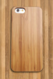 Slim Bamboo Light Wood Case Thin Rubber Bumper For iPhone and Samsung Galaxy - CaseCarnival