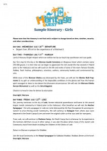 Sample Girls Itinerary CTeen Heritage Quest_Page_1
