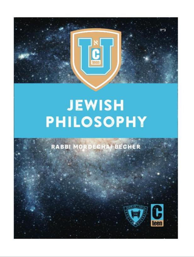 CTeen U Jewish Philosophy - Teacher's Guide