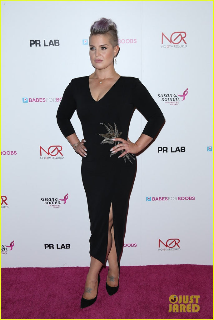 kelly osbourne wearing mestiza new york at babes for boobs event in los angeles