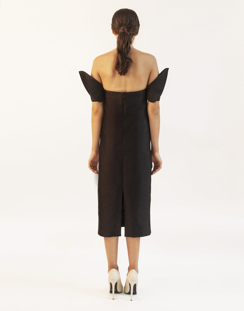 Silk Wool Terno Midi Dress