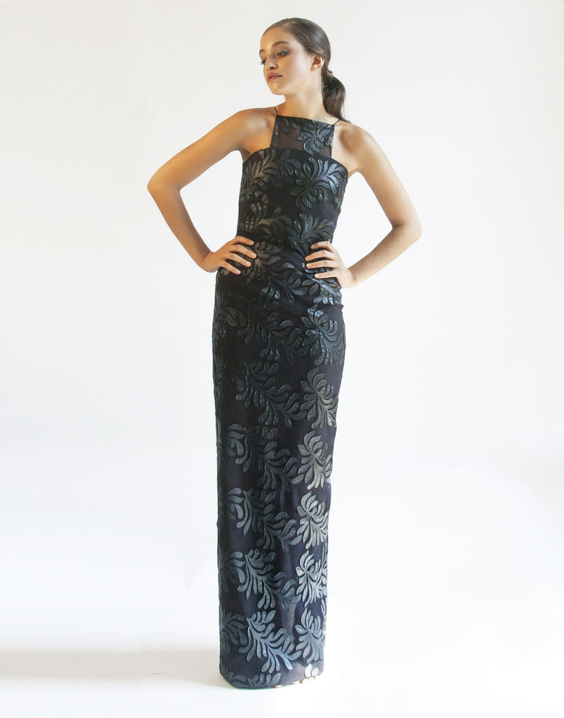 SAMPLE Flame Tree Black Gown