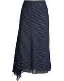 Rocio Asymmetric Metallic Dot Skirt