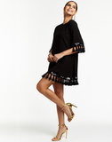 Shimmy Shimmy Black Tassel Cocktail Dress
