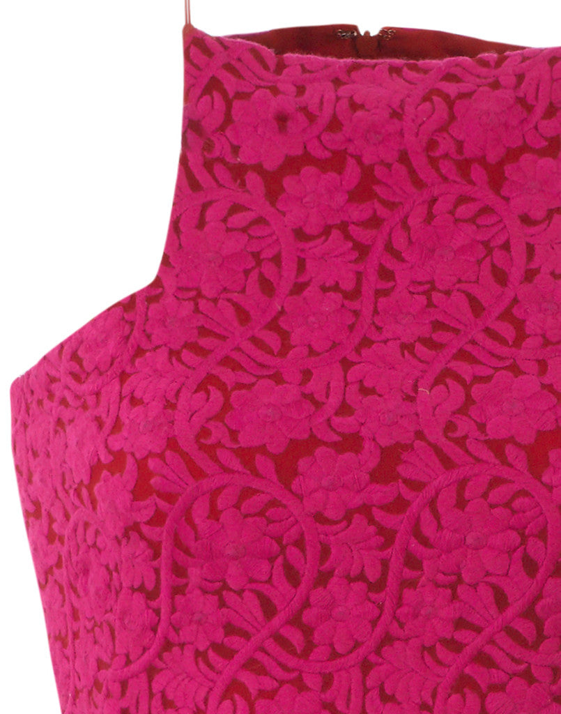Flame Tree Embroidered Mini Dress- SAMPLE