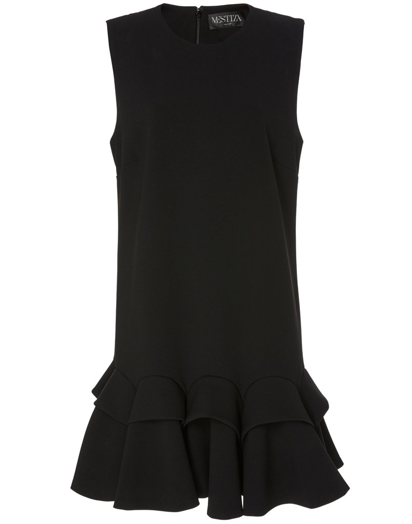 Front view of fashionable black dress