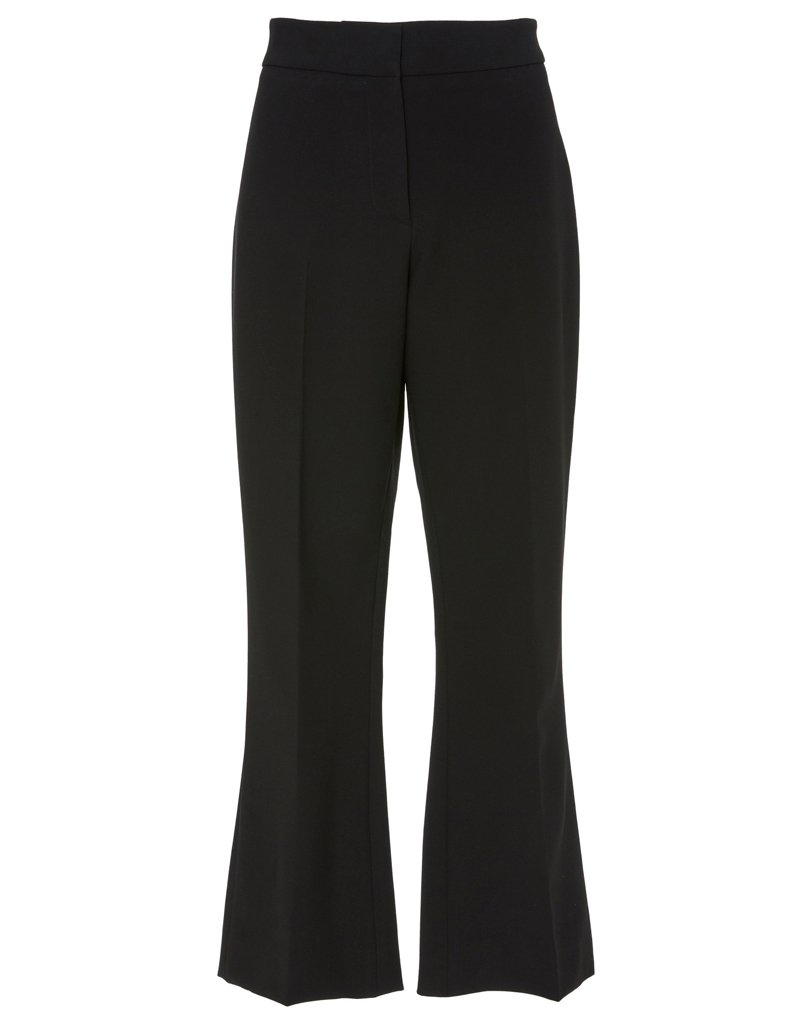 Front view of black pants with flare for business or pleasure