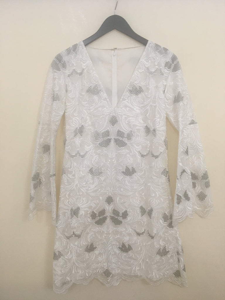 SAMPLE Camisa Bell Dress in White Lace