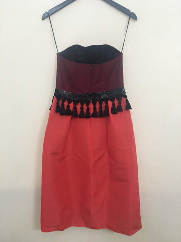 SAMPLE Two Tone Strapless Bell Dress