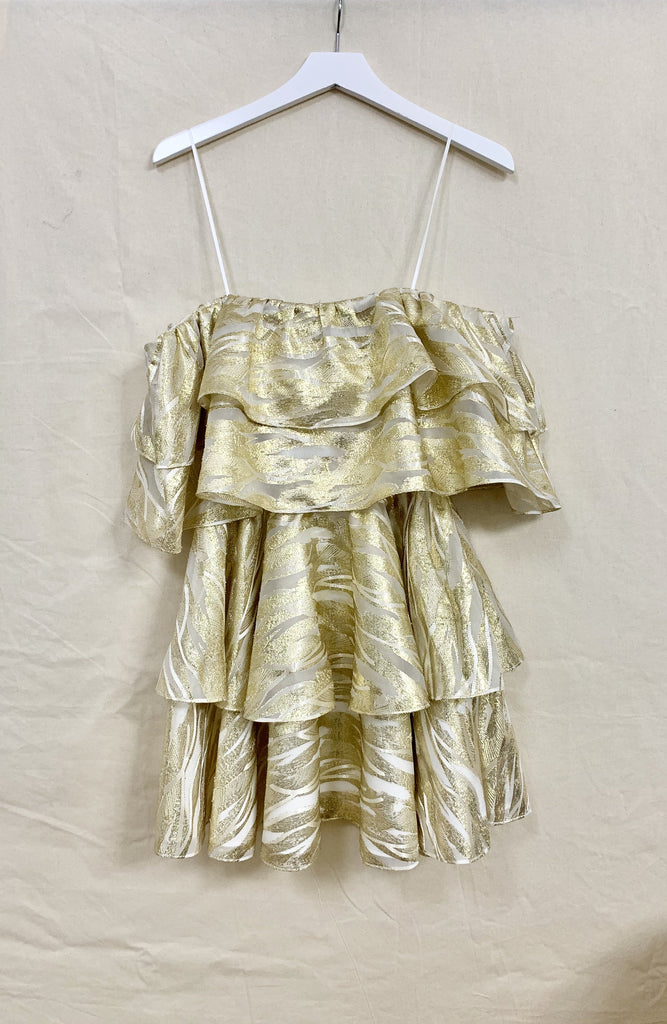 SAMPLE FIna Mini Dress Gold/Ivory