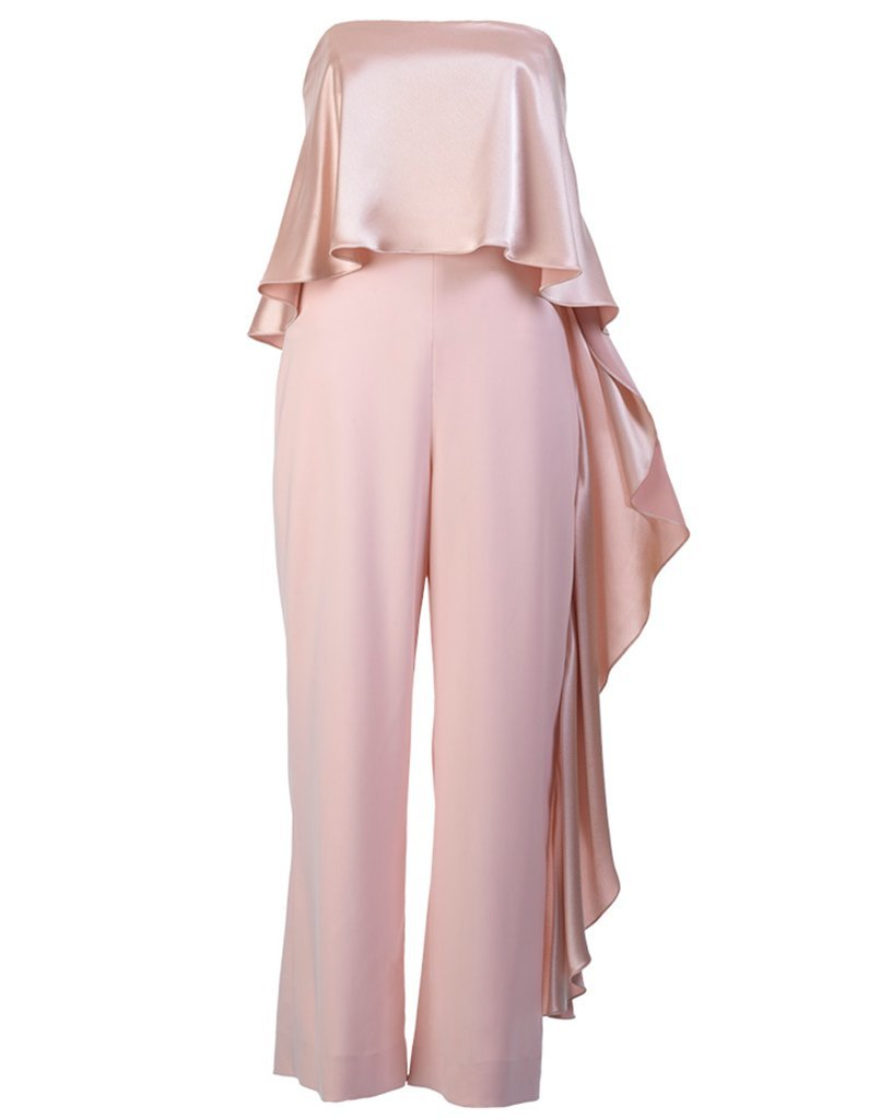 SAMPLE Jacqueline Cropped Ruffle Jumpsuit