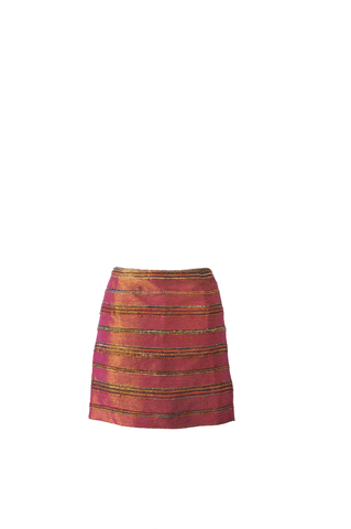 Pili Raw Silk Mini Skirt - Sample