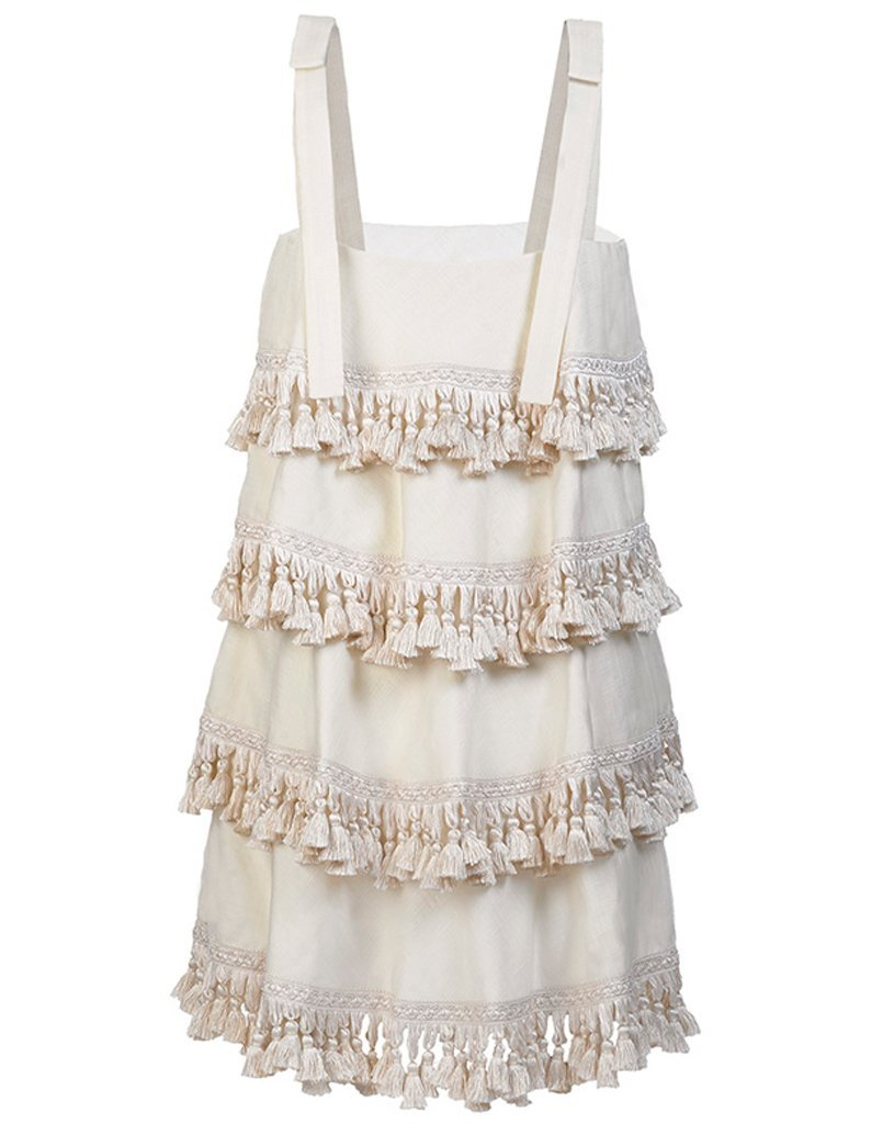 SAMPLE Palma 4 Tiered Tassel Dress