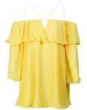 Galicia Pleated Chiffon Strappy Dress