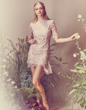 Lucena Lace Sleeve Dress
