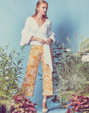 Malaga Embroidered Linen Pant