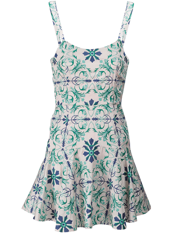 Luna Palm Leaf Dress