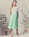 Maria Pleated Chiffon Skirt