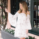 Nevada  Dress in Intricate Floral Lace