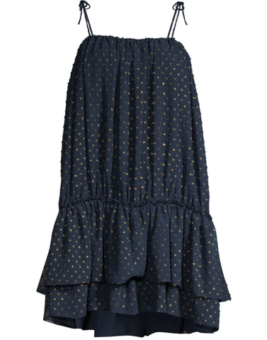 Shimmy Shimmy Tassel Dress in Navy