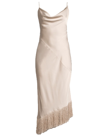 Shimmy Shimmy Tassel Dress in Blush