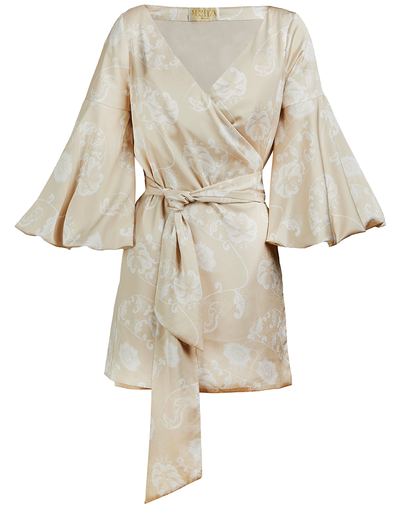 Sample Cadiz Silk Wrap Dress