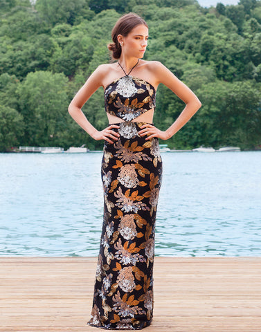 Arianna Cut-Out Gown