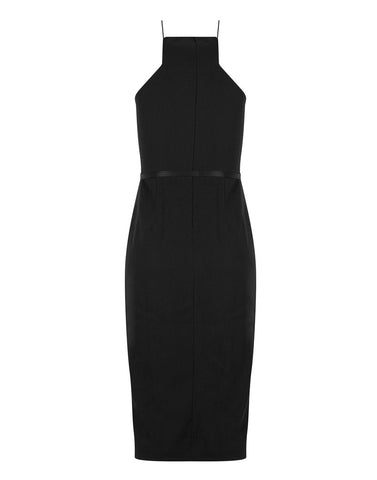 Basic B Stretch Midi in Black