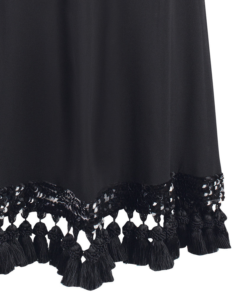 SAMPLE Cha Cha Cha Black Tassel Dress