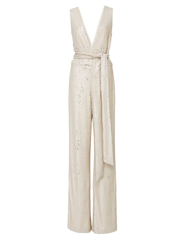 Calabria Asymmetrical Embroidered Linen Midi