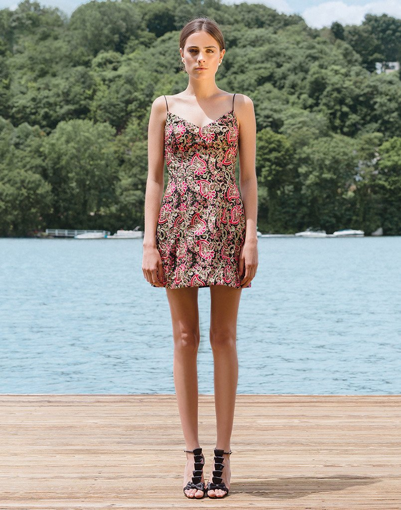 SAMPLE Laura Bell Floral Embroidered Dress