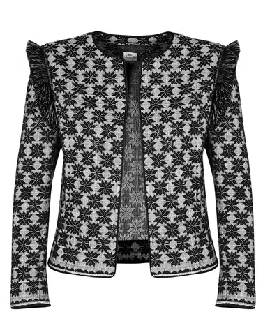 Melissa Jacket in Metallic Habi Tribal Diamonds