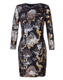 Joanie Burnished Sequin Stretch Dress
