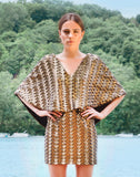 SAMPLE - Joanna Gold Sequin Cape Dress